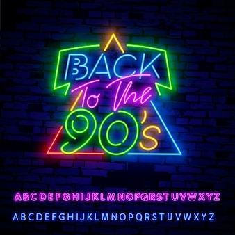 Torna alla insegna al neon degli anni '90