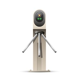 Tornello moderno, ingresso con carta - sistema di sicurezza d'ingresso, concetto di accesso