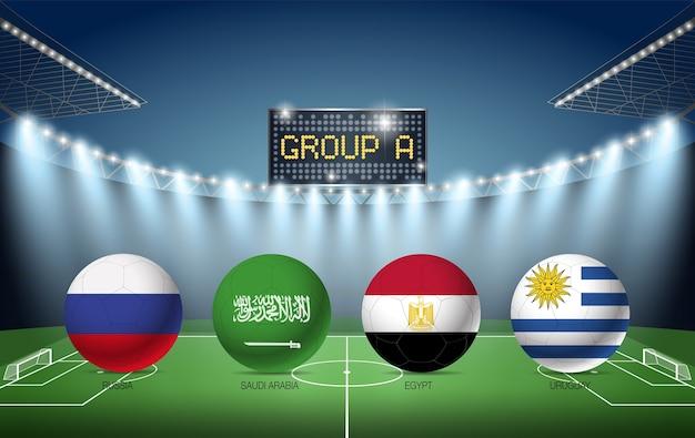 Torneo di calcio del gruppo a russia 2018 (russia, arabia saudita, egitto, uruguay)