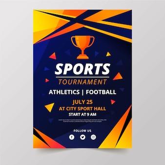 Torneo di design di poster sportivi