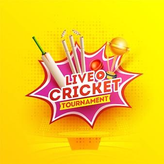 Torneo lve cricket in stile pop art