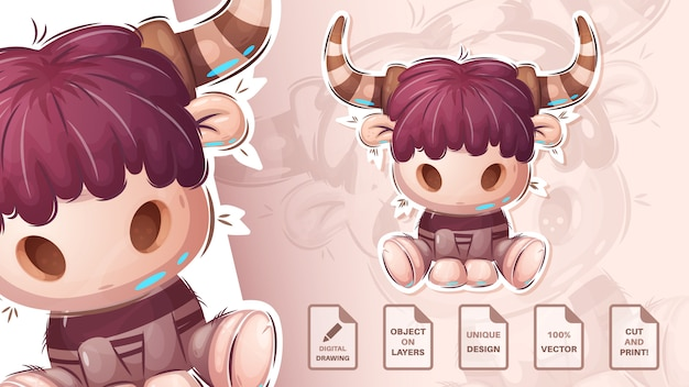 Toro carino teddy -