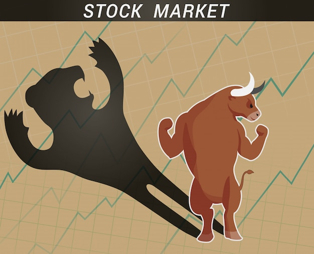 Toro e orso del mercato azionario
