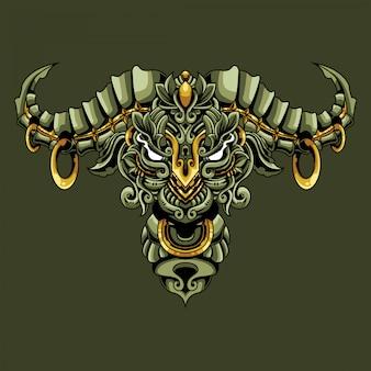 Toro ornamentale doodle illustrazione