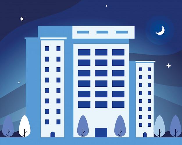 Torri di appartamenti e uffici, paesaggio urbano