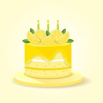 Torta al limone giallo