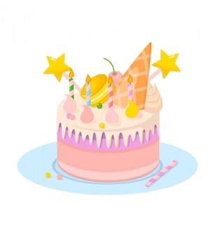 Torta di compleanno con candele