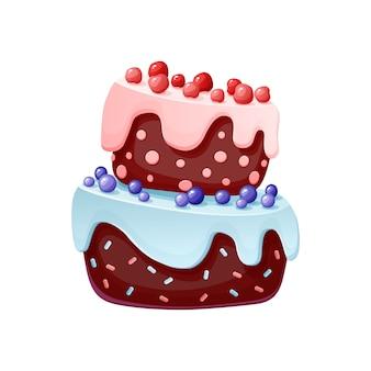Torta festiva simpatico cartone animato