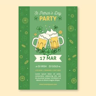 Tostare la birra st. poster del giorno di patrick