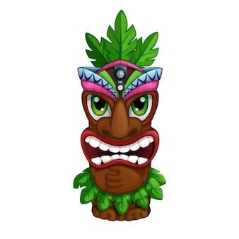 Totem hawaiano arrabbiato.