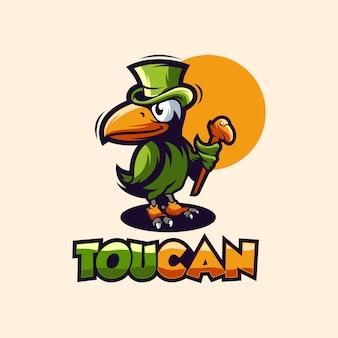 Toucan logo design vettoriale