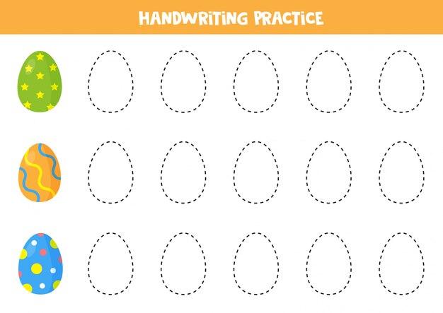 Traccia cartoon uova di pasqua.