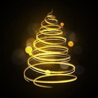 Traccia di luce albero di natale