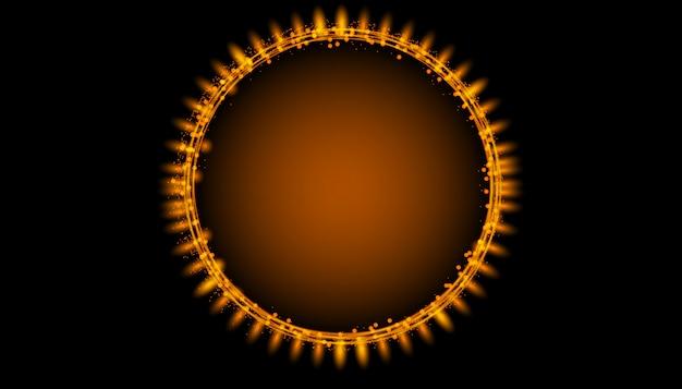 Traccia di turbinio magico cerchio splendente per banner.