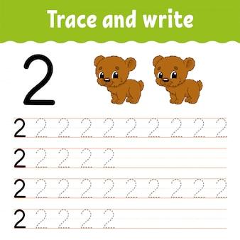 Traccia e scrivi. pratica della scrittura a mano.