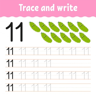 Traccia e scrivi.