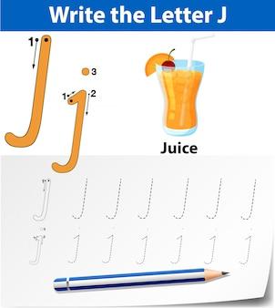 Traccia la lettera j
