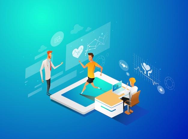 Traccia le tue condizioni di salute attraverso lo schermo del monitor digitale.