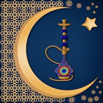 Tradizionale narghilè blu ceramica turca