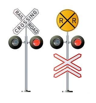 Traffico del segnale del semaforo. illustrazione delle luci di treno