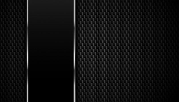 Trama di fibra di carbonio con sfondo di linee metalliche