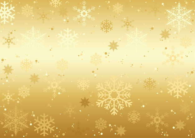 Trama di fiocchi di neve di natale oro