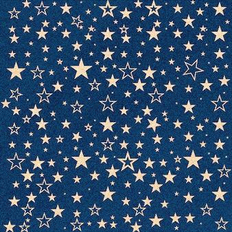Trama di jeans con stelle