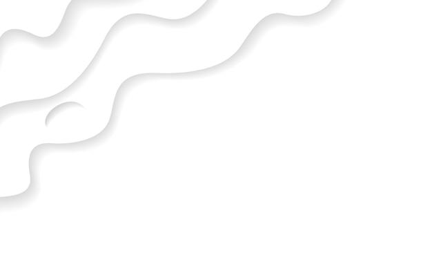 Trama di sfondo bianco ondulato con carta tagliata stile