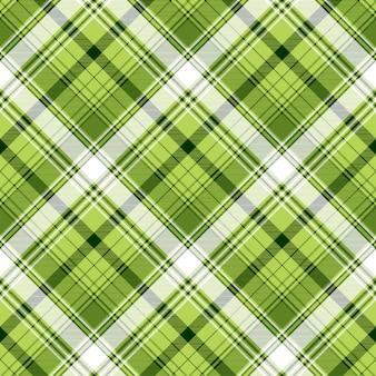 Trama di tessuto scozzese verde irlandese