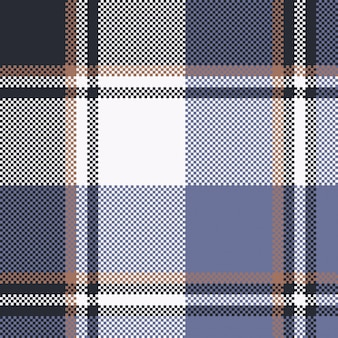 Trama di tessuto senza soluzione di continuità tartan pixel check blu