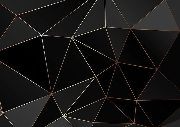 Trama poligonale oro.