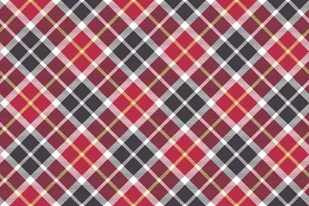 Trama senza saldatura diagonale check rosso e grigio