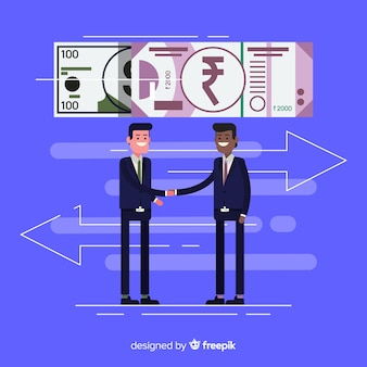 Transazione della rupia indiana