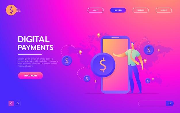 Transazione di denaro in tutto il mondo, affari, mobile banking e pagamento mobile,