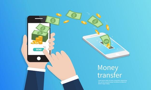 Trasferimento di denaro mobile.
