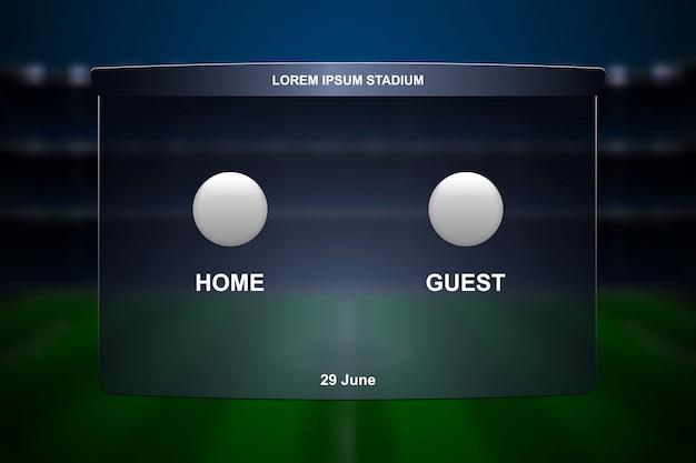 Trasmissione del tabellone segnapunti di calcio.