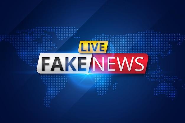 Trasmissione di notizie false dal vivo