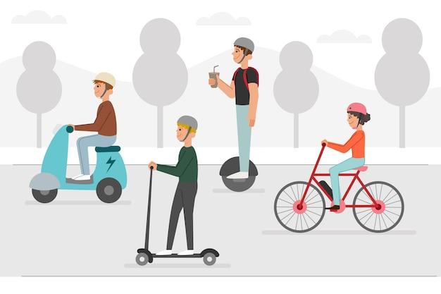 Trasporto elettrico alternativo per le strade