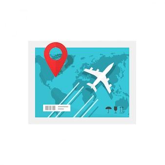Trasporto merci o merci logistico o consegna in aereo illustrazione