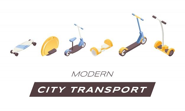 Trasporto urbano moderno. viaggio urbano contemporaneo