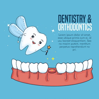 Trattamento dell'igiene dentale e dei denti da latte