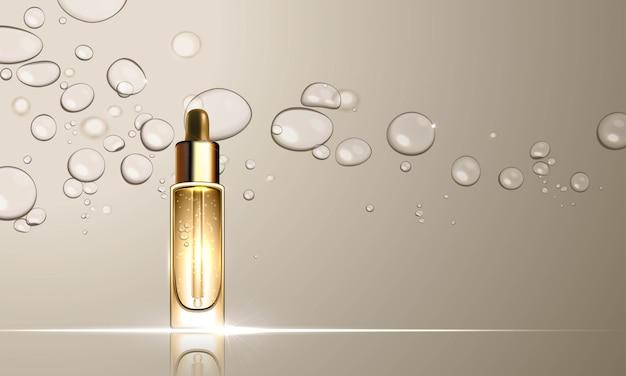Trattamento di cura della pelle con flacone di collagene