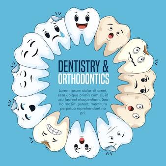 Trattamento di odontoiatria con cura igienica della medicina