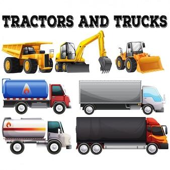 Trattori e camion di raccolta