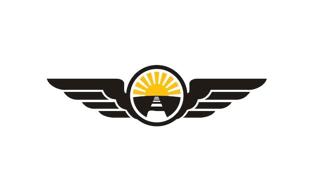 Travel emblem logo design ispirazione