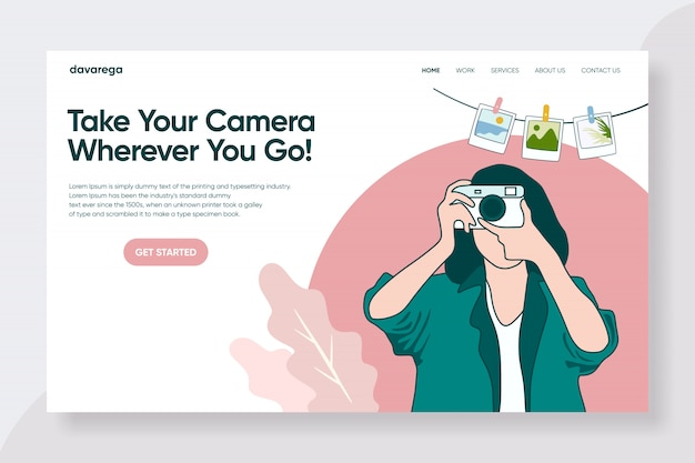 Travel landing page design