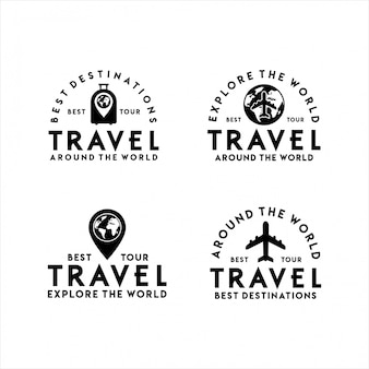 Travel logo best tour set