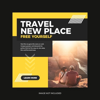 Travel promo instagram social media