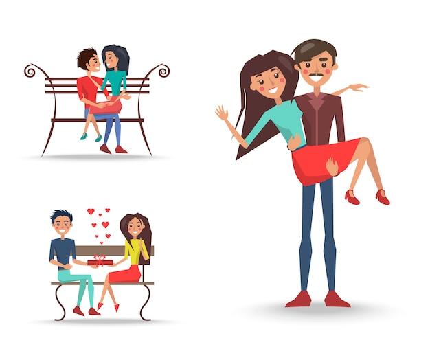 Tre belle coppie innamorate