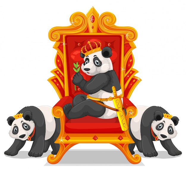 Tre panda al trono